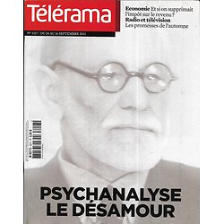 TELERAMA n°3217 10/09/2011  La psychanalyse en crise?/ Lacan/ Rentrée TV/ Fiscalité