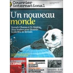COURRIER INTERNATIONAL n°1150 15/11/2012  Etats-Unis-Chine: un nouveau monde/ Conquête spatiale