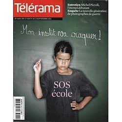 TELERAMA n°3215 27/08/2011 SOS Ecole/ Piccoli/ Simmons/ Photographes de guerre