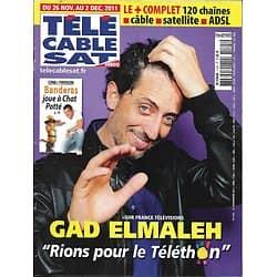 Télé Cable sat n°1125 26/11/2011  Gad Elmaleh/ Antonio Banderas/ Sophie Marceau/ Chanel n°5
