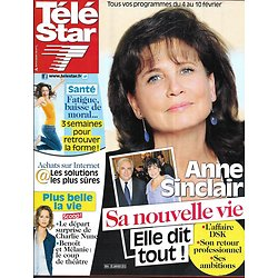 TELE STAR n°1844 30/01/2012  Anne Sinclair/ Plus Belle La Vie/ Laurent Ruquier/ Juliette Gréco