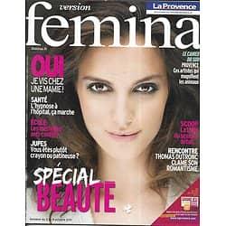 VERSION FEMINA n°496 03/10/2011 Spécial Beauté/ Thomas Dutronc/ Estremadure/ Nutella