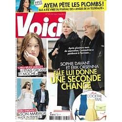 VOICI n°1331 11/05/2013  Sophie Davant & Orsenna/ Keira Knightley/ Carla Bruni/ Christophe/ Brad Pitt