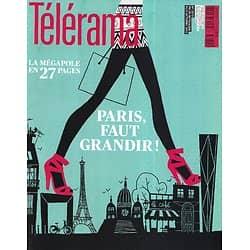 TELERAMA n°3272 29/09/2012  Spécial Paris/ J-X Lestrade/ Echenoz/ Modiano/ RER B