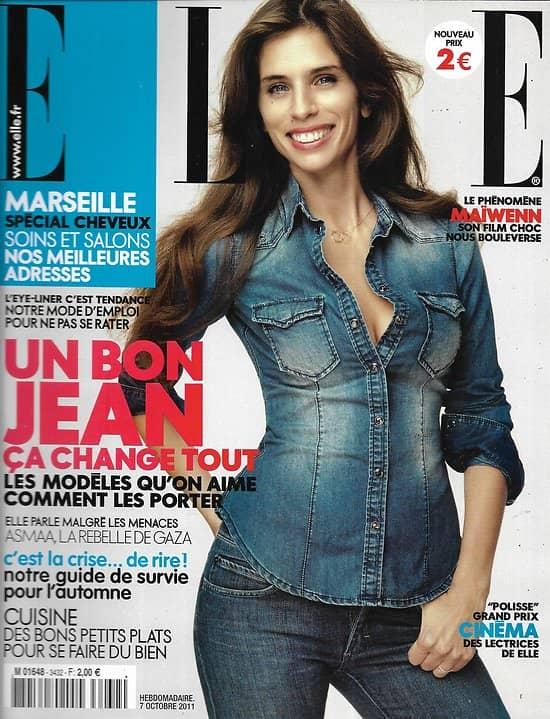 ELLE n°3432 07/10/2011   Maïwenn/ Spécial jean/ Jean Dujardin/ Eva Mendes