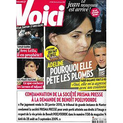VOICI n°1165 06/03/2010  Adeline Blondieau & Farid/ Isabelle Adjani/ Tahar Rahim/ Anne Roumanoff/ Dany Boon