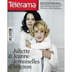 TELERAMA n°3207 02/07/2011  J.Moreau & J.Binoche/ Fukushima/ Festival d'Avignon