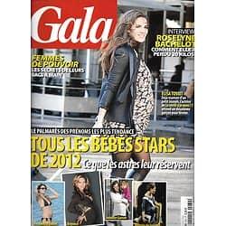 GALA n°970 11/01/2012  Bébés Stars/ Elisa Tovati/ R.Bachelot/ Rooney Mara/ Victoria Beckham