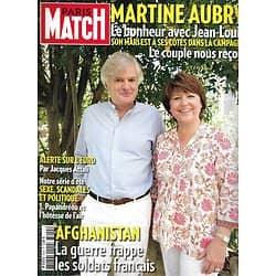 PARIS MATCH n°3244 21/07/2011  Martine Aubry/ Afghanistan: morts pour la France/ Papous/ Audrey Fleurot/ Natalia Vodianova/ Scandale papandréou
