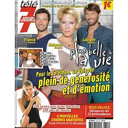 TELE 7 JOURS n°2740 01/12/2012  Plus belle la vie-Hampton/ Miss France/ Foresti