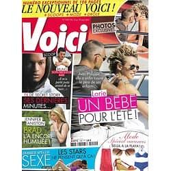 VOICI n°1240 13/08/2011  Lorie/ Les stars et le sexe/ Jennifer Aniston/ FX/ Brad Pitt & Angelina Jolie