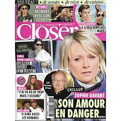 CLOSER n°353 17/03/2012  Sophie Davant & Erik Orsenna/ Carla Bruni/ Will Smith/ Beyonce