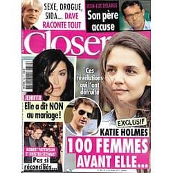 CLOSER n°380 21/09/2012  Katie Holmes & Tom Cruise/ Robert Pattinson & Kristen Stewart/ Dave/ Jean-Luc Delarue