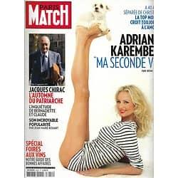 PARIS MATCH n°3251 08/09/2011  Adriana Karembeu/ Chirac/ George Michael/ George Clooney/ Mike Tyson
