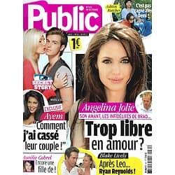 PUBLIC n°431 14/10/2011 Angelina Jolie/ Secret Story/ Blake Lively/ Ashton Kutcher/ Le dressing des beaux gosses