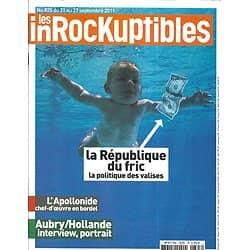 LES INROCKUPTIBLES n°825 21/09/2011 Nevermind - Nirvana/ Années 90 Revival/ L'Apollonide