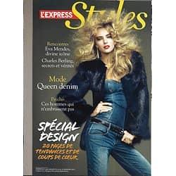 L'EXPRESS STYLES n°3141 14/09/011  Spécial design/ Eva Mendes/ Charles Berling