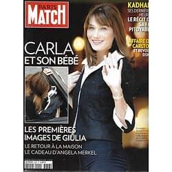 PARIS MATCH n°3258 26/10/2011  Carla Bruni/ Mort de Kadhafi/ Steve Jobs/ Monica Bellucci