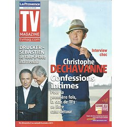 TV MAGAZINE n°20890 02/10/2011 Dechavanne/ Michel Drucker & Patrick Sébastien/ Miss France