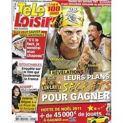"TELE LOISIRS n°1343 26/11/2011  ""Koh-Lanta"" Teheiura & Patricia/ ""Intouchables""/ Miss Nationale/ Séries US"