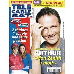 Télé Cable Sat n°1116 24/09/2011 Arthur/ Sophie Thalmann & Soumillon/ Jacques Audiard/ Miles Davis