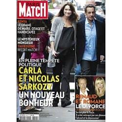 PARIS MATCH n°3255 06/10/2011  Carla Bruni & Sarkozy/ Renaud/ Michael Jackson/ Charlène de Monaco