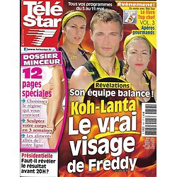 "TELE STAR n°1857 05/05/2012   ""Koh-Lanta"" Freddy-Maud-Wafa/ Tom Cruise/ Brad Pitt & Angelina  Jolie"