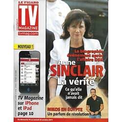 TV MAGAZINE n°20902 15/10/2011  Anne Sinclair/ Nikos Aliagas/ Sophie Marceau/ Miss France