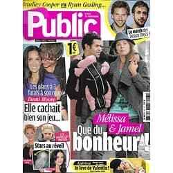 PUBLIC n°437 25/11/2011 Mélissa Theuriau & Debbouze/ Demi Moore/ Bradley Cooper vs Ryan Gosling/ Beyoncé
