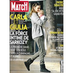 PARIS MATCH n°3278 15/03/2012  Carla Bruni & Sarkozy/ Patrick Sébastien/ Léonard De Vinci/ Syrie