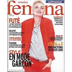 VERSION FEMINA n°501 07/11/2011 Mode Style Garçon/ Omar Sy/ La Dominique/ Dictons