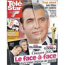 TELE STAR n°1847 25/02/2012  Jean Dujardin & George Clooney/ Stéphane Bern/ Delphine Wespiser