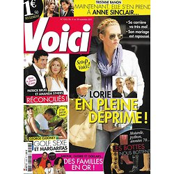VOICI n°1253 11/11/2011  Lorie/ Familles en or/ Bruel & A.Sthers/ George Clooney/ Tristane Banon/ Lady Gaga