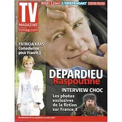 TV MAGAZINE n°20932 19/11/2011  Gérard Depardieu/ Patricia Kaas/ Miss France