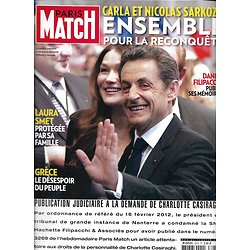 PARIS MATCH n°3275 23/02/2012  Sarkozy & Carla Bruni/ Laura Smet/ Jeff Bezos/ M6/ Le Pen