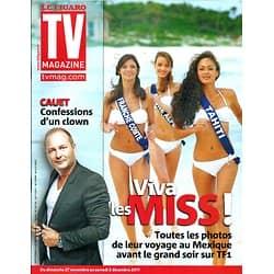 TV MAGAZINE n°20938 26/11/2011 Miss France 2012/ Sébastien Cauet/ Olivier Marchal
