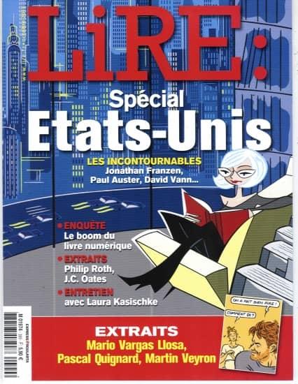 LIRE n°399 octobre 2011  SPECIAL ETATS-UNIS/ KASISCHKE/ LIVRE NUMERIQUE