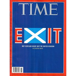TIME VOL.184 n°9&10 15/09/2014  SCOTLAND INDEPENDENCE/ THE ANSWERS ISSUE