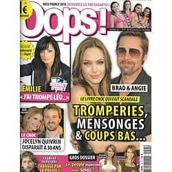 OOPS! n°45 20/11/2009  Brad Pitt& Angelina Jolie/ Quivrin/ Kérusoré/ Miss France/ Seins des people