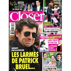 CLOSER n°417 08/06/2013  Patrick Bruel/ Carla Bruni/ Katie Holmes/ Secret Story/ Angelina Jolie