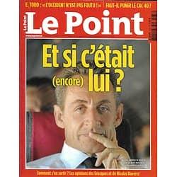 LE POINT n°2033 01/09/2011  Sarkozy: et si c'était (encore) lui?/ Limonov par Carrère/ Les nettoyeurs de Tripoli