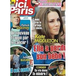 ICI PARIS n°3450 17/08/2011  Kate Middleton/ Patrick Sébastien/ Julian Bugier/ Michèle Mercier/ Corbier/ Romane Bohringer