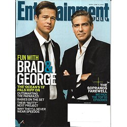 "ENTERTAINMENT WEEKLY n°939 15/06/2007  Brad Pïtt & George Clooney ""Ocean's thirteen""/ The Sopranos"