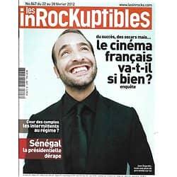 LES INROCKUPTIBLES n°847 22/02/2012  Spécial Cinéma Français/ The Artist/ Jeremy Rifkin/ Arméniens