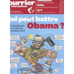COURRIER INTERNATIONAL n°1108 26/01/2012  Qui peut battre Obama?/ Hugo Chavez/ Pillage de l'art/ Islande sortie de crise