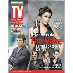"TV MAGAZINE n°20997 04/02/2012  Jenifer ""The Voice"" -Pagny, Garou & Bertignac/ Marc Lièvremont/ Robert Redford"