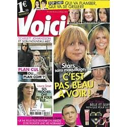"""VOICI n°1265 04/02/2012  Stars sans maquillage/ Scarlett Johansson/ Laura Smet/ Daniel Craig/ """"Top Chef""""/ Lana Del Rey/ Jean Dujardin"""