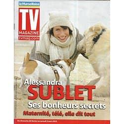 TV MAGAZINE n°21016 25/02/2012  Alessandra Sublet/ Les stars fêtent Tv Magazine