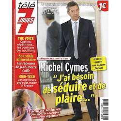 "TELE 7 JOURS n°2752 23/02/2013   Michel Cymes/ ""The Voice""/ Amanda Sthers/ Poppy Montgomery"