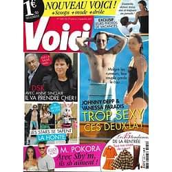 VOICI n°1242 27/08/2011 Johnny Depp & Vanessa paradis/ Bêtisier de l'été/ M.Pokora & Shy'm/ Affaire DSK